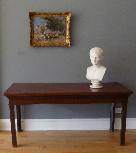 A George III mahogany side table - ref 411